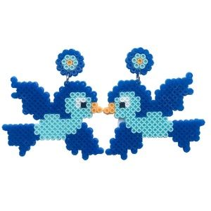 Blue Lovebird Earrings